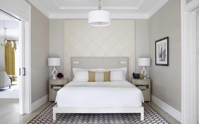 Облицовка стен в маленькой спальне 4