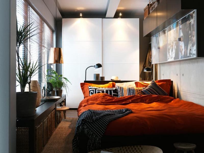Освещение в маленькой спальне 1
