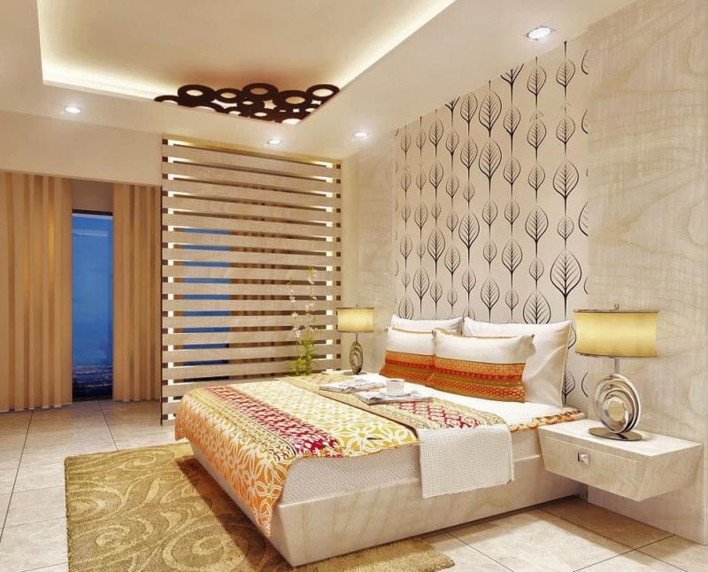 Освещение в маленькой спальне 4
