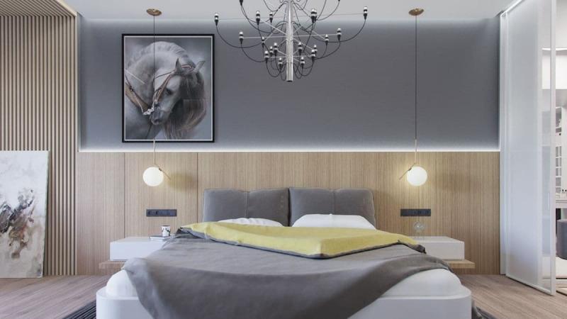 Освещение в маленькой спальне 6