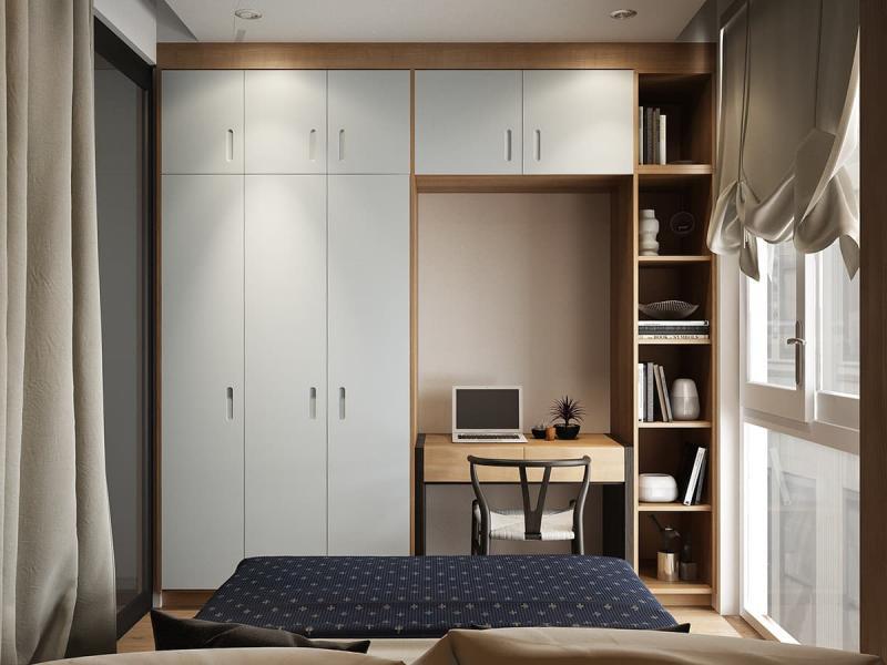 Письменный стол в маленькой спальне 5