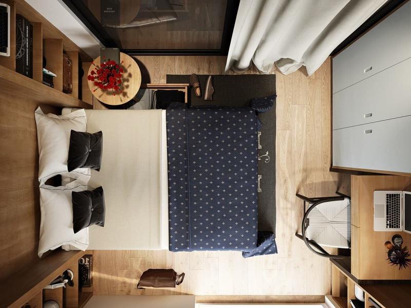 Пол в маленькой спальне 1