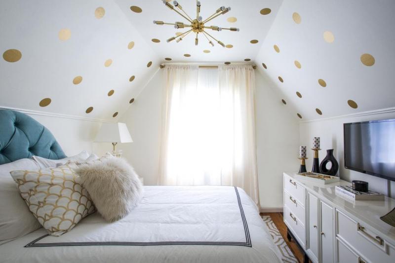 Потолок в маленькой спальне 4