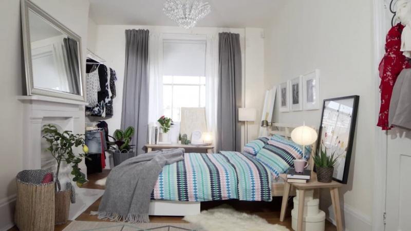 Шторы в маленькой спальне 2