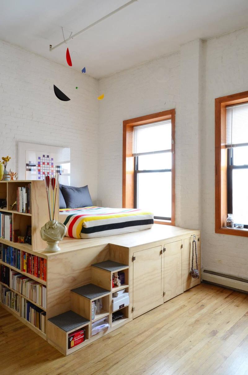 Система хранения в маленькой спальне 6