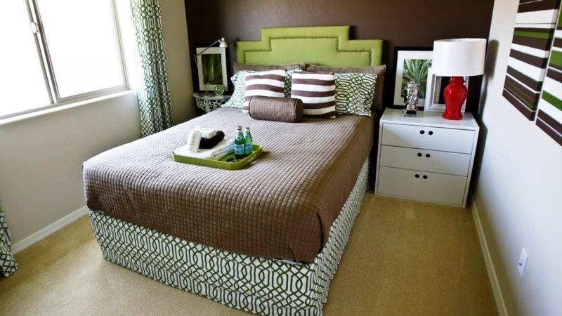 Стиль для маленькой спальни эклектика 1