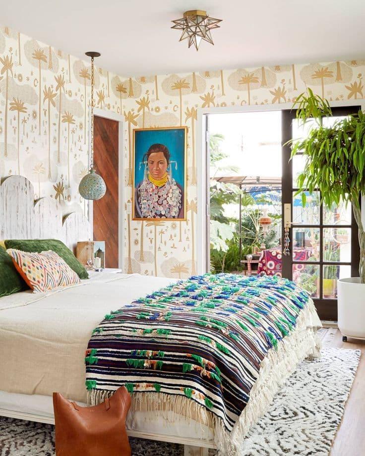 Стиль для маленькой спальни экзотический 1