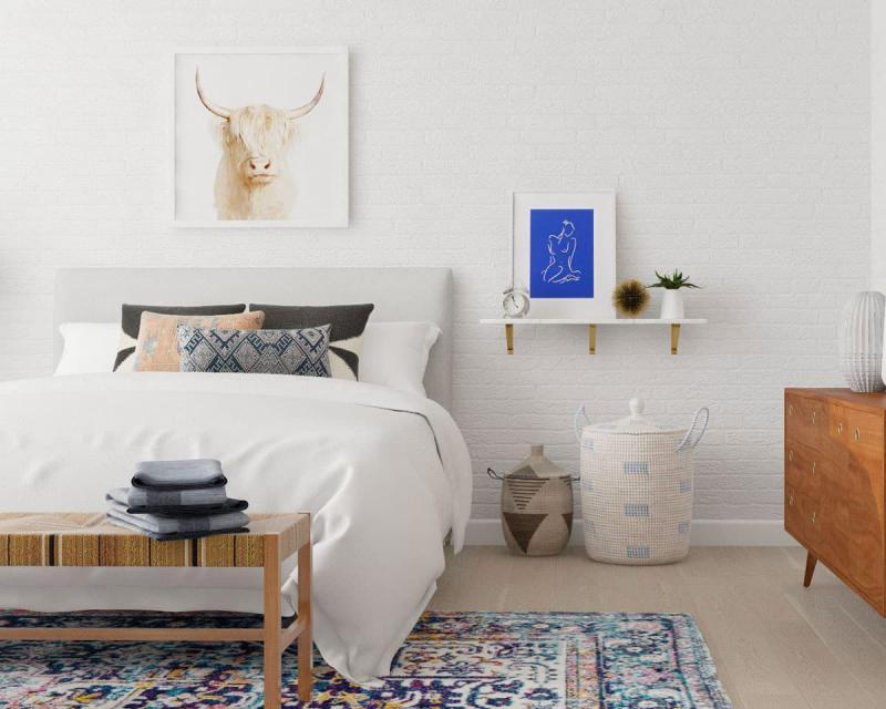 Стиль для маленькой спальни скандинавский 1
