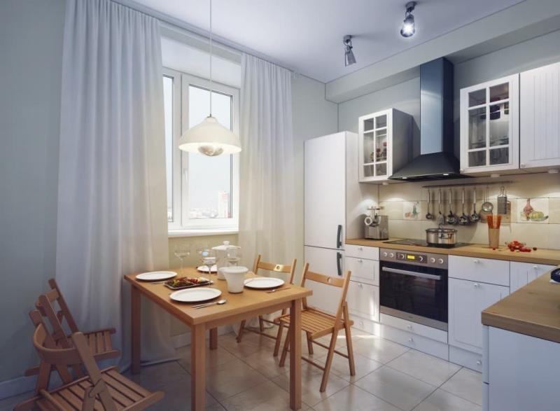 Бытовая кухни в кухне 9 кв.м 1