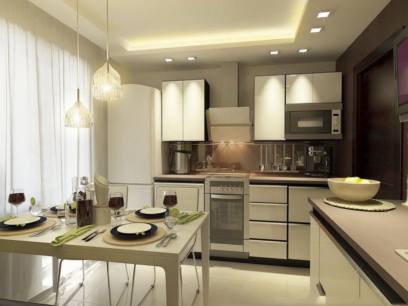 Бытовая кухни в кухне 9 кв.м 3
