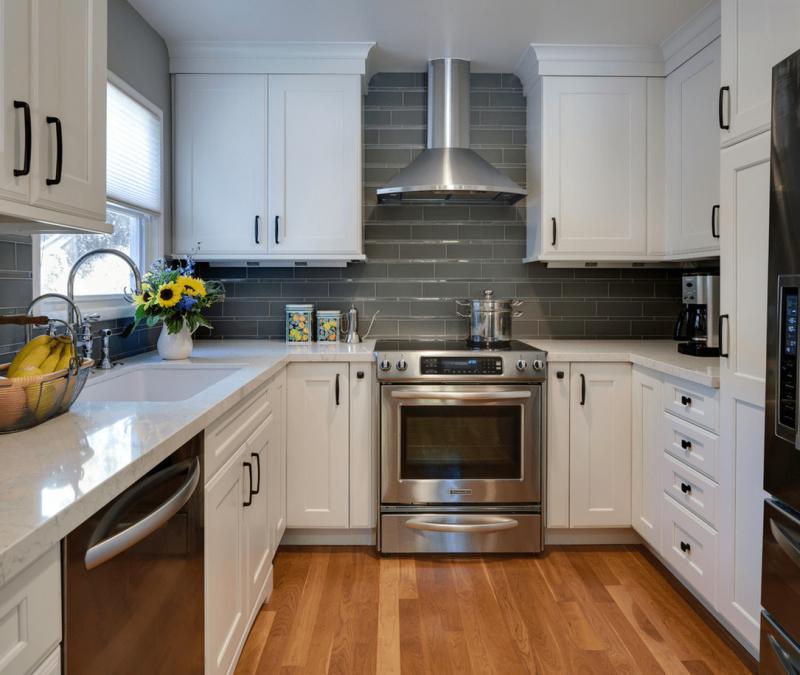 Бытовая кухни в кухне 9 кв.м 4