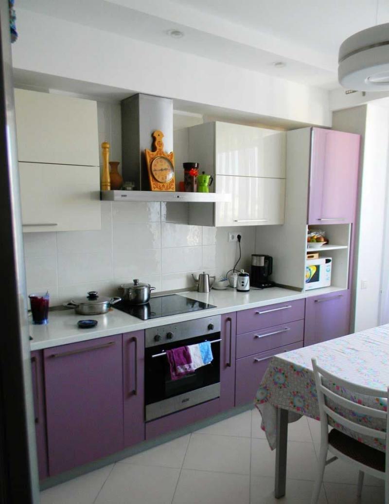 Цвет для кухни 9 кв. м фиолетовый 1