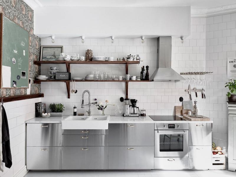 Цвет для кухни 9 кв. м серый 1
