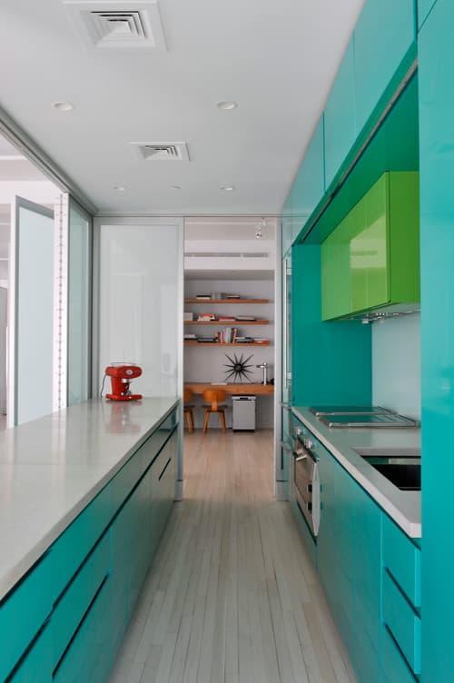 Цвет для кухни 9 кв. м зеленый 1
