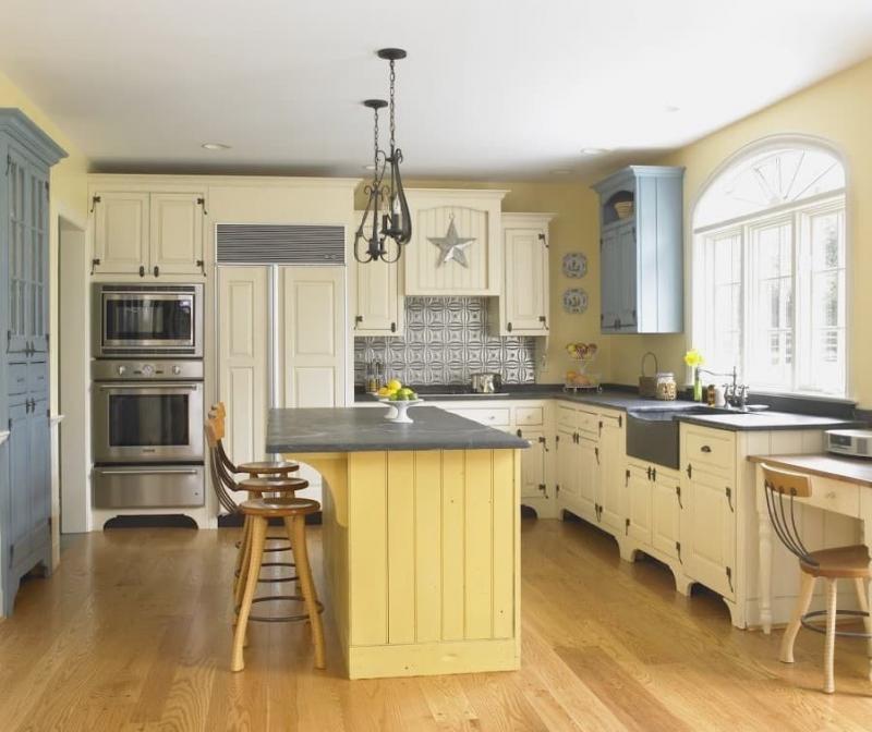 Цвет для кухни 9 кв. м желтый 1