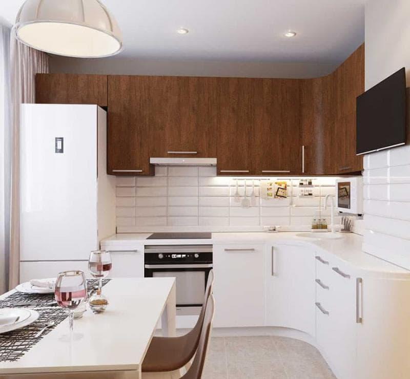 Кухонный гарнитур для кухни 9 кв.м 4