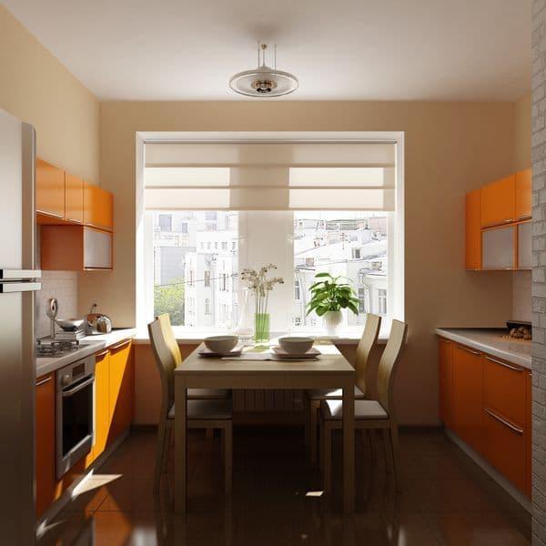 Обеденный стол на кухне 9 кв.м 4
