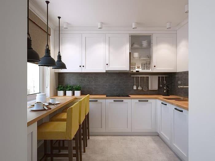 Стиль для кухни 9 кв.м лофт 1
