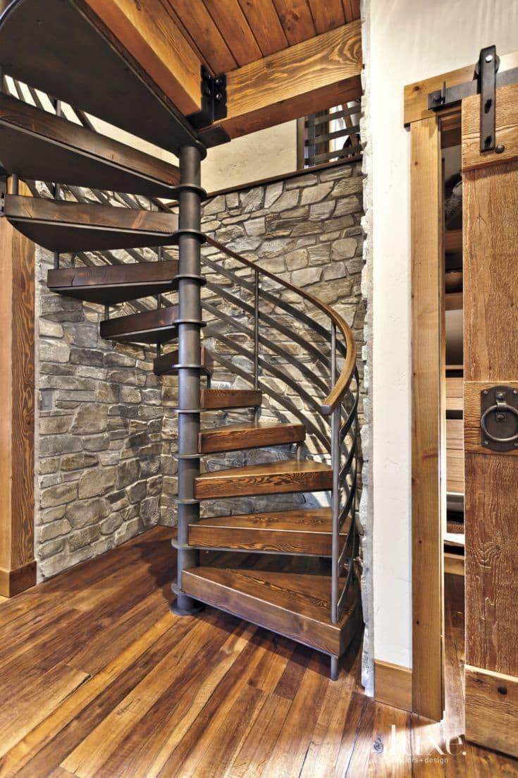Комбинированные лестницы на второй этаж 1