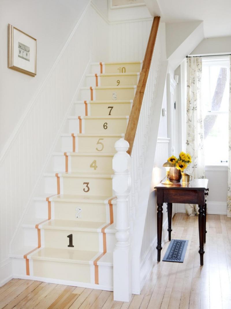 Маршевая лестница на второй этаж 2