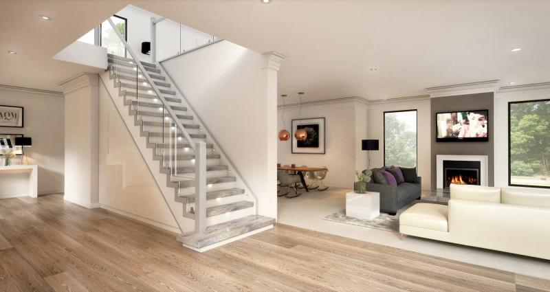 Подсветка лестницы на второй этаж 2