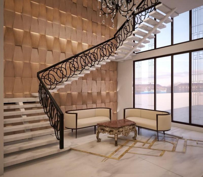 Поворотная лестница на второй этаж 2