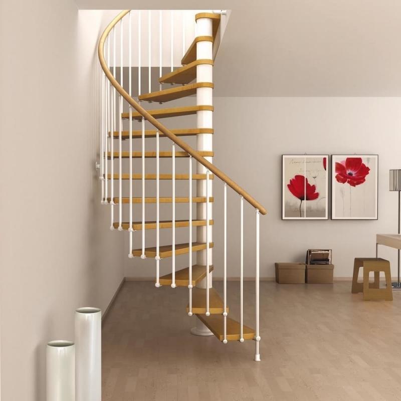 Винтовая лестница на второй этаж 5
