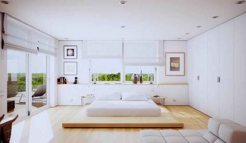 Цвет спальни в современном стиле (белый) 1