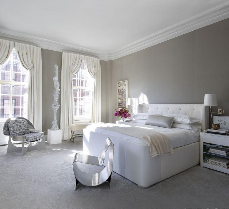 Цвет спальни в современном стиле (серый) 1