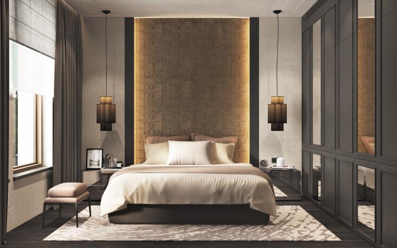 Изголовье для спальни в современном стиле 1