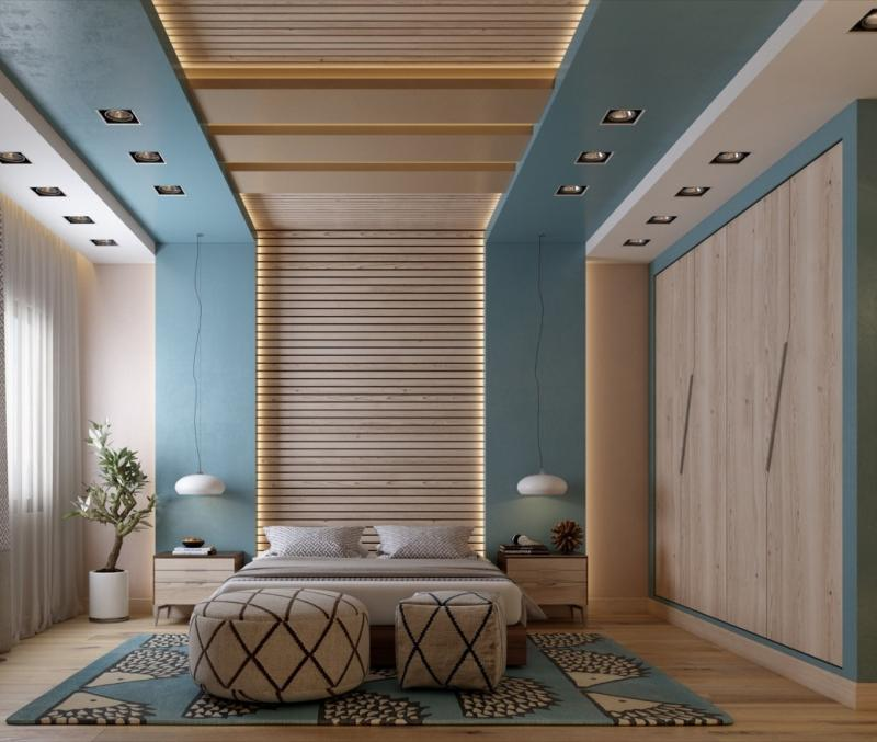 Изголовье для спальни в современном стиле 4