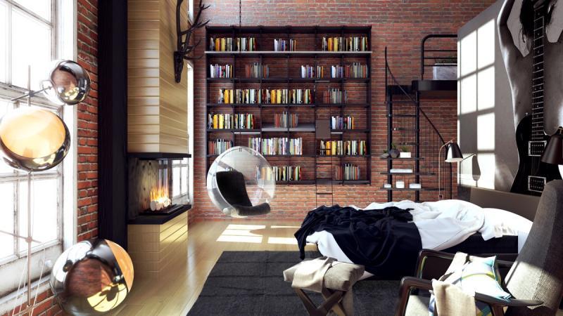 Кресло в спальне в современном стиле 2