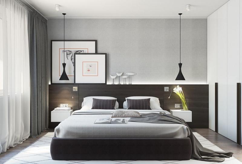 Кровать для спальни в современном стиле 1