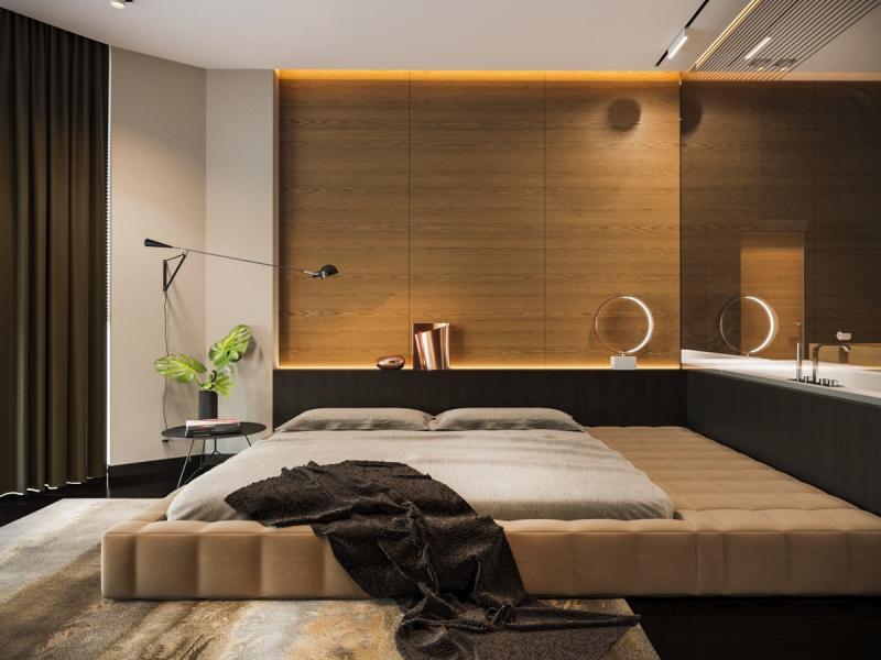 Кровать для спальни в современном стиле 3