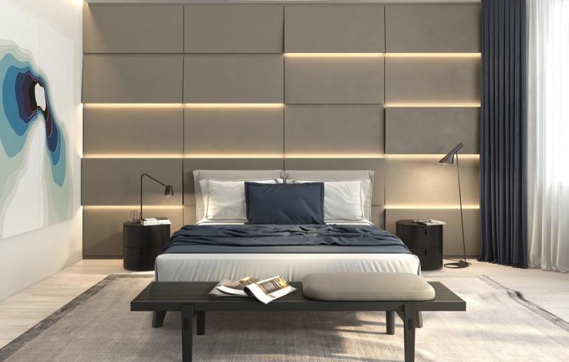 Освещение в спальне в совремнном стиле 1