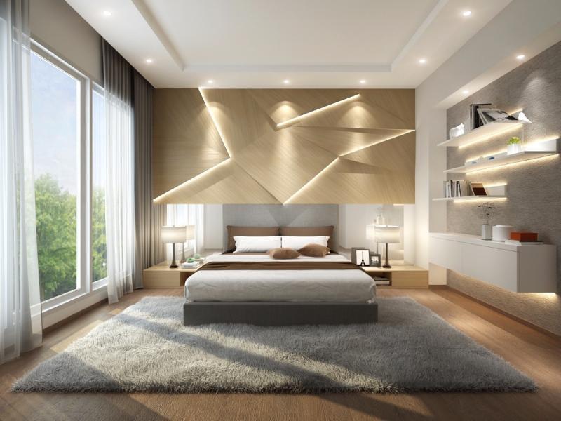 Освещение в спальне в совремнном стиле 2