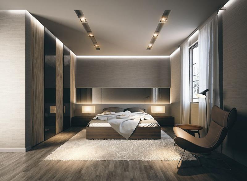 Освещение в спальне в совремнном стиле 4