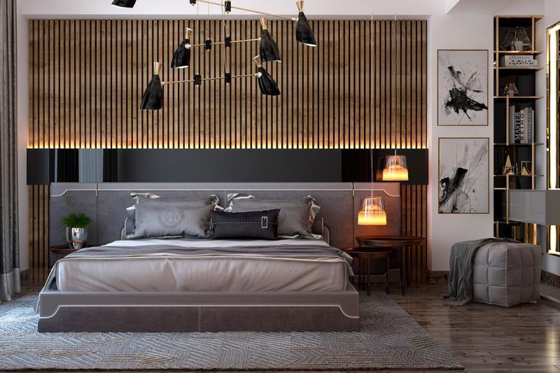 Освещение в спальне в совремнном стиле 5