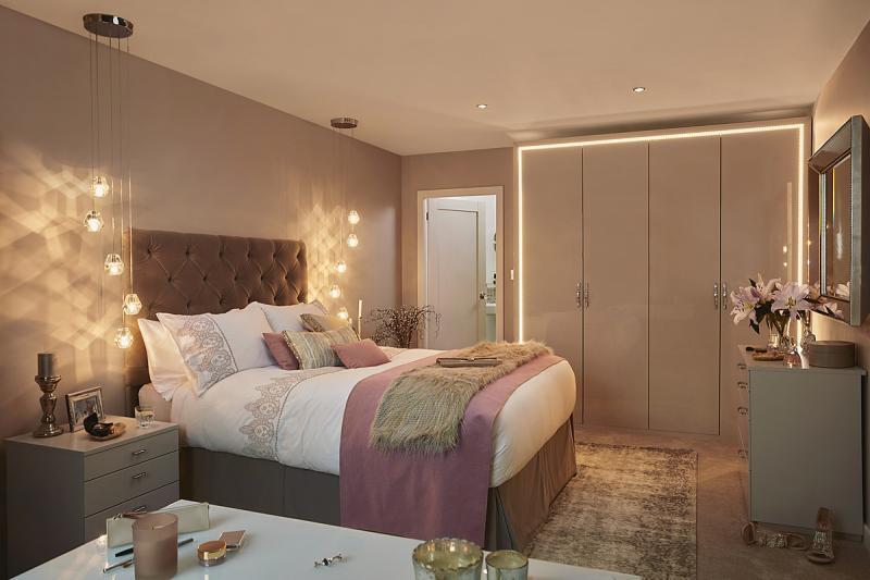 Освещение в спальне в совремнном стиле 6