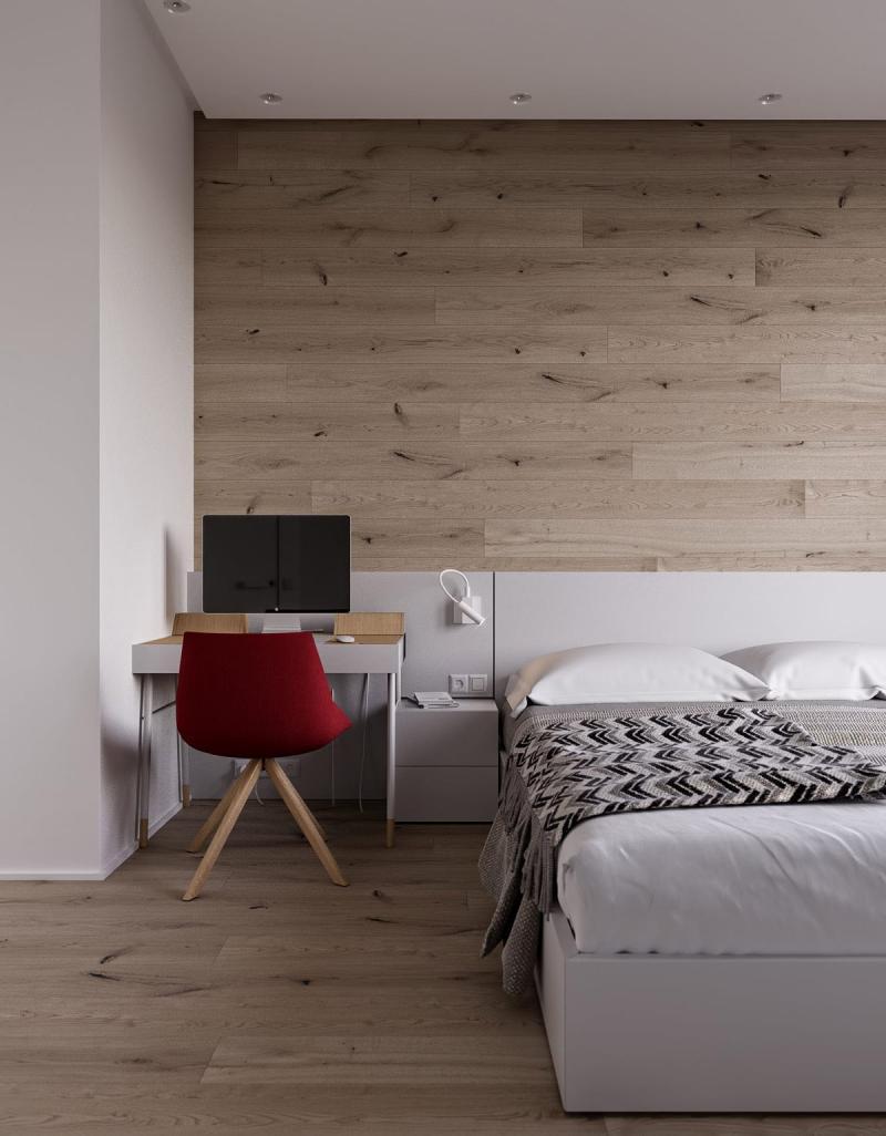 Письменный стил в спальне в современном стиле 2