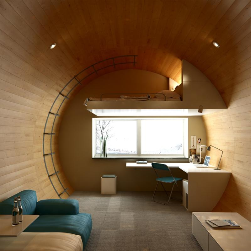 Письменный стил в спальне в современном стиле 3
