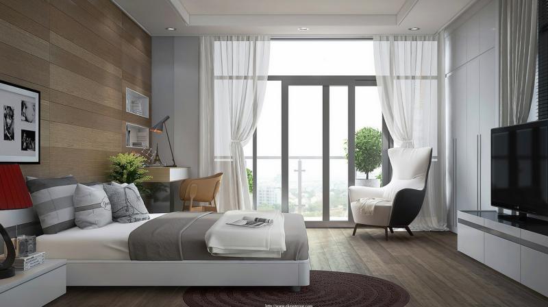 Письменный стил в спальне в современном стиле 4
