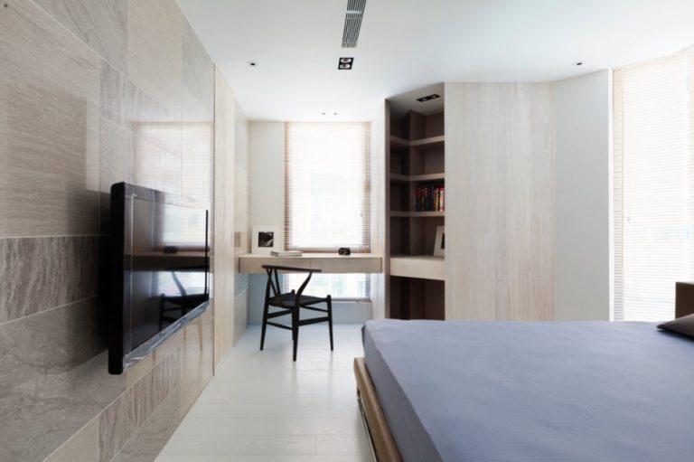 Письменный стил в спальне в современном стиле 6