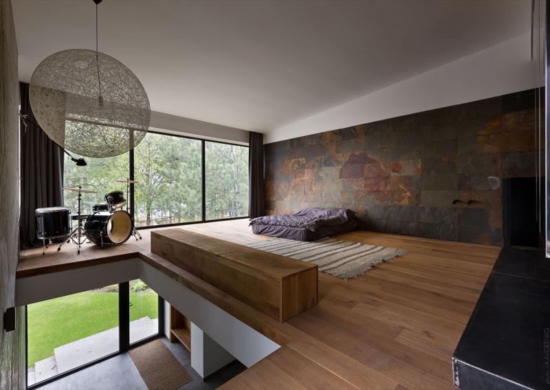 Пол в спальне в современом стиле 1