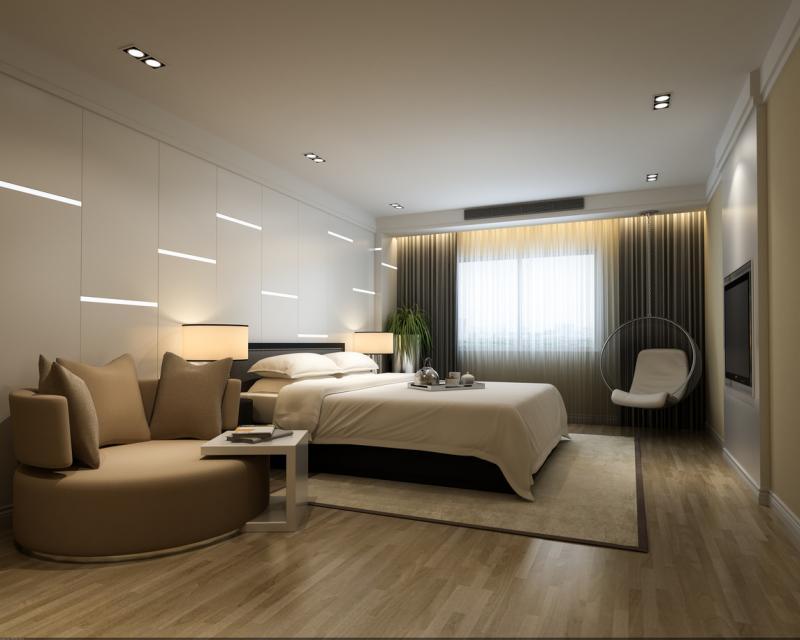 Пол в спальне в современом стиле 3