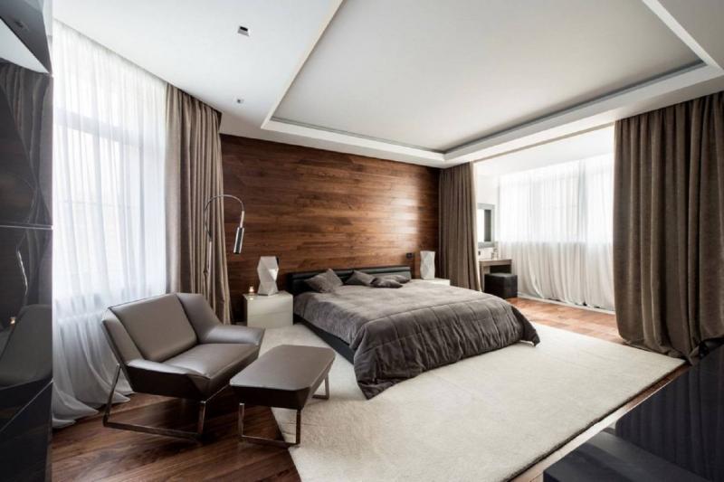 Потолок в спальне в современном стиле 1