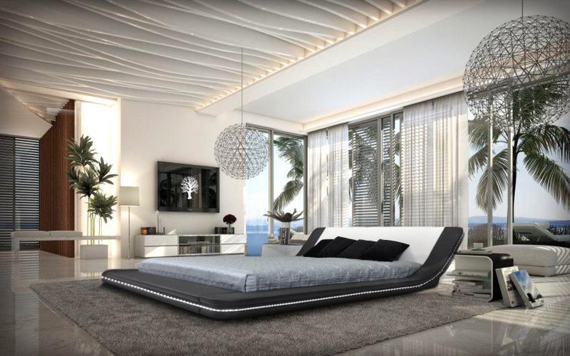 Потолок в спальне в современном стиле 3