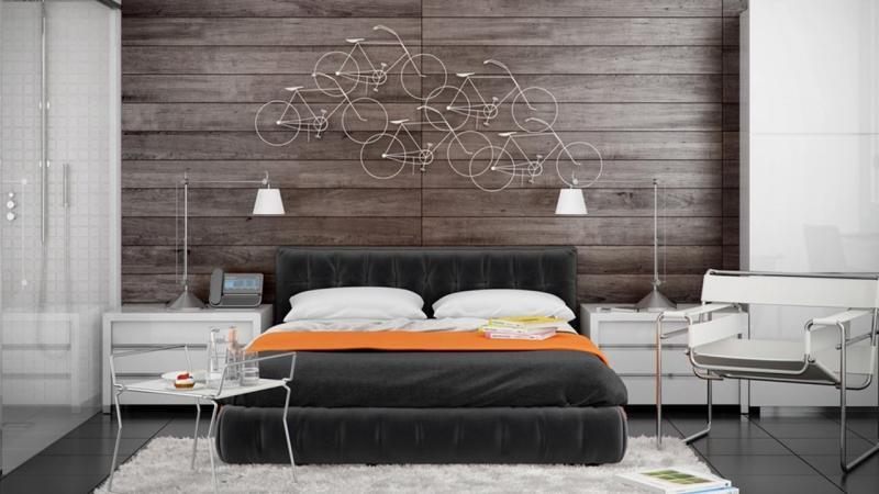 Прикроватные тумбы в спальне в современном стиле 1