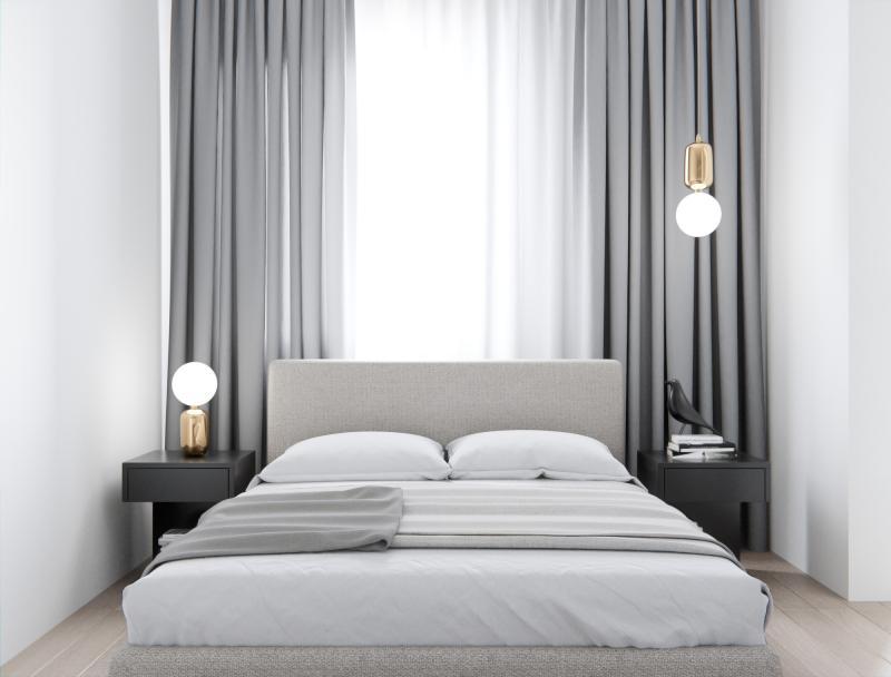 Прикроватные тумбы в спальне в современном стиле 2