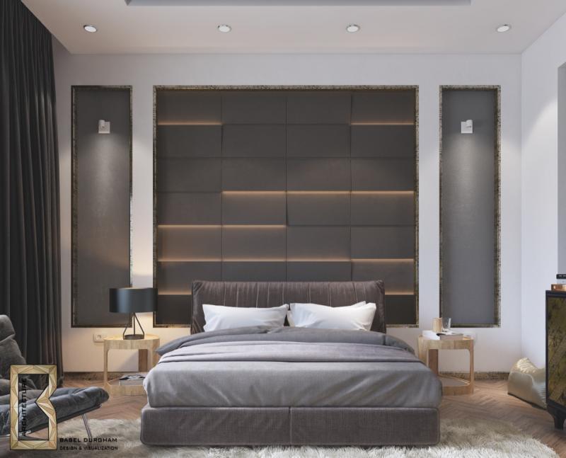 Прикроватные тумбы в спальне в современном стиле 4